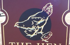 The Hen House Property Sign DEtail