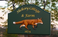 Hickory Cottage Property Sign