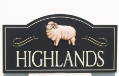 Highlands Farm Sign