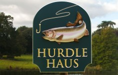 Hurdle Haus Fishing Sign