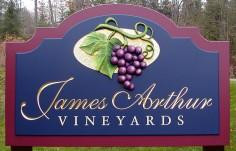 James Arthur Winery Sign