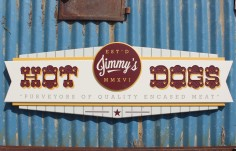 Jimmy's Hot Dogs Business Sign