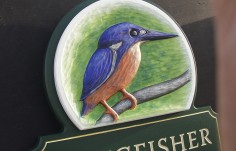 Kingfisher Cottage Sign Detail