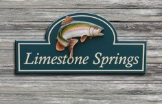 Limestone Springs Fish Sign