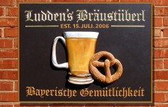Luddens Braustuberl Pub Sign