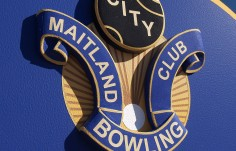 Maitland Bowling Club Sign Detail