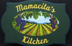 Mamacita's Kitchen Cabin Sign