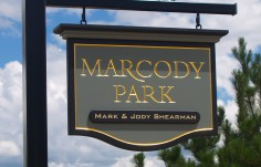 Marcody Park Hanging Property Sign