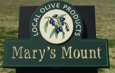 Mary's Mount Olive Products Business Sign
