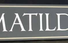 Matilda House Sign