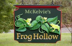 McKelvie's Frog Hollow Animal Sign Thumb