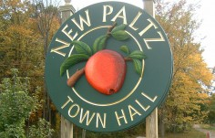 New Paltz Town Entrance Sign