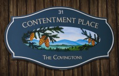 Contentment Place B&B Sign | Danthonia Designs