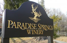 Paradise Springs Winery Sign on Location