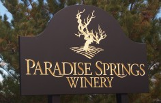 Paradise Springs Winery Sign
