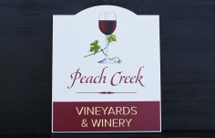 Peach Creek Vineyards Sign