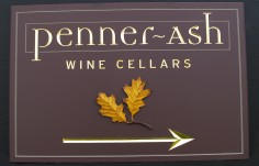 Penner Ash Winery Sign Directional sign