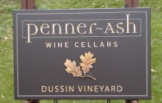 Penner Ash Winery Sign