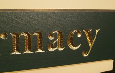 Pharmacy Business Sign Detail