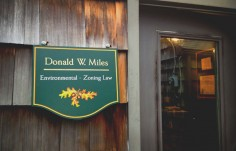 Donald W Miles Office Sign