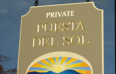 Puesta del Sol House Sign