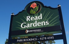Read Gardens Sign