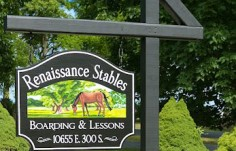 Renaissance Stables Horse Sign