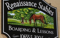 Renaissance Stables Farm Sign