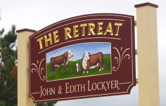 The Retreat Farm Animal Sign