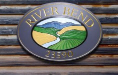 River Bend House Sign