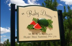Ruby Downs Farm Sign
