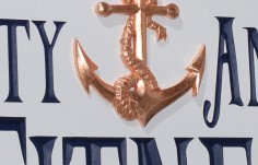 Rusty Anchor Fitness Sign Detail