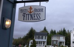 Rusty Anchor Fitness Hanging Sign