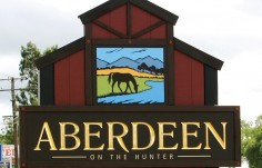 Aberdeen Town Welcome Sign