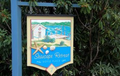 Seascape Retreat Beach House Sign
