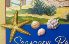 Seascape Retreat Beach House Sign Detail