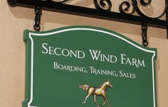 Second Wind Farm Horse Sign