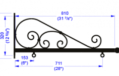 Size 4 Scroll measurements