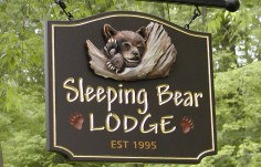 Sleeping Bear Lodge Sign