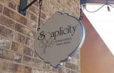 Soaplicity Business Sign on location