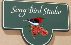 Song Bird Studio Bird Sign