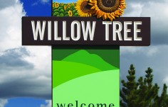 Willow Tree Town Welcome Sign