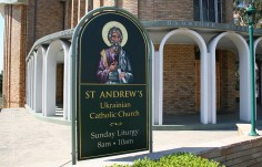 St. Andrew's Ukrainian Church sign