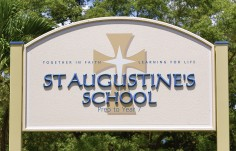 St. Augustine's School Welcome Sign