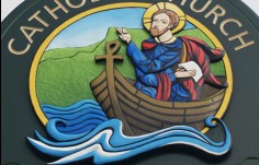 St. Columbkilles Church Sign Artwork