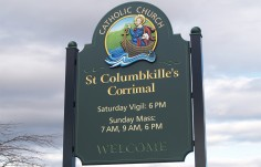 St. Columbkilles Church Sign