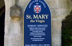 St. Mary Church Sign