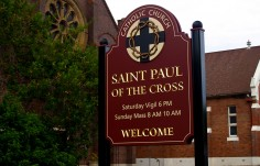 St. Paul of the Cross Church Sign