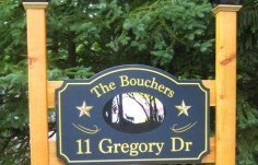 The Bouchers House Sign