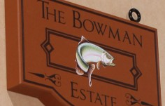 The Bowman Estate Sign